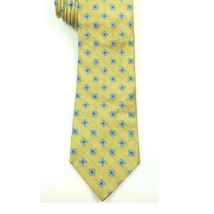Brooks Brothers Gold Floral Silk Tie